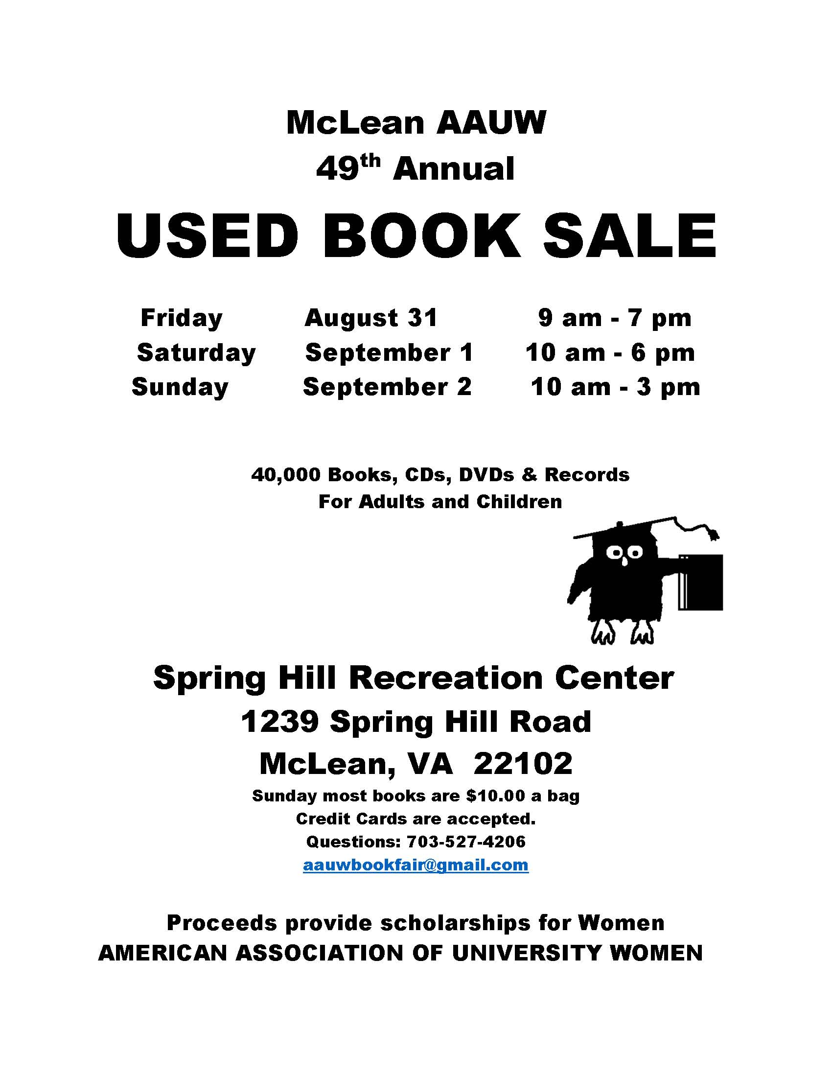 Mclean AAUW Used Book Sale